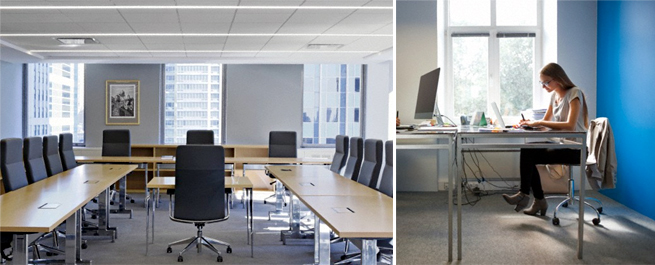 office interiors display the features of both organization and its